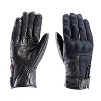 Blauer Combo gloves in denim / black