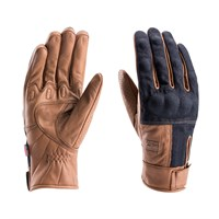 Blauer Combo gloves in denim / biscuit