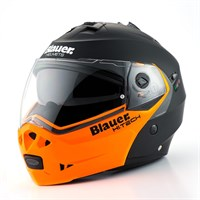 Blauer Sky Matt Black/Orange Helmet