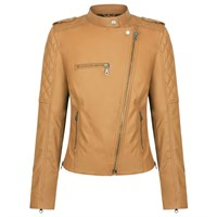 Black Arrow Liberty Wheels ladies jacket in tan