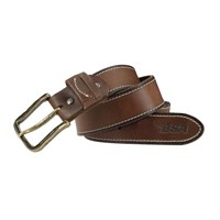 BSA 5002 full grain leather belt in brown / brass