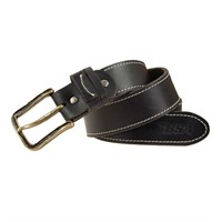 BSA 5002 full grain leather belt in black / brass