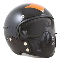 Harisson Harrow Helmet in black / orange