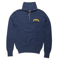 Deus William Zip Knit Jumper - Navy