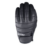 Five California leather gloves in black