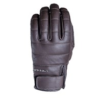 Five California leather gloves in brown