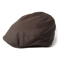 Failsworth Wax flat cap in brown