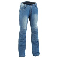 Halvarssons Ladies Wrap jeans in blue light wash