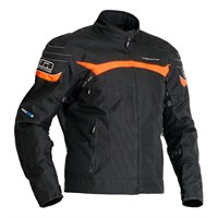 Halvarssons Cheops jacket in black / orange