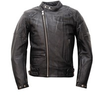 Helstons Black KS71 Leather Jacket