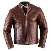 Helstons Heat Antique Brown Leather Jacket