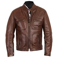 Helstons Reno jacket in brown