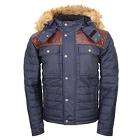 Helstons Stuff jacket in navy