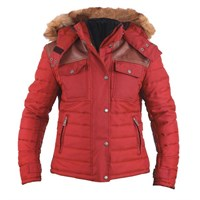 Helstons ladies Stuff jacket in red
