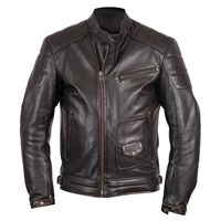 Helstons Rusty Brown Leather Jacket