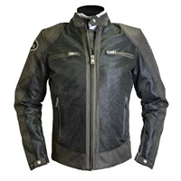 Helstons Modelo Mesh jacket in brown