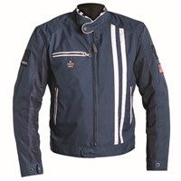 Helstons Shelby mesh jacket in blue/ white