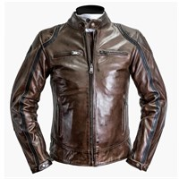 Helstons Modelo leather jacket in camel/ black