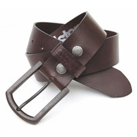 Helstons Old leather belt in dark brown
