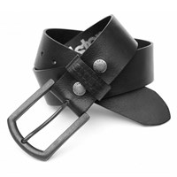 Helstons Old leather belt in black