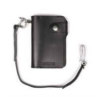 Helstons Moon wallet and lanyard in black