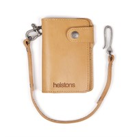 Helstons Moon wallet and lanyard in natural