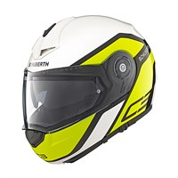 Schuberth C3 Pro helmet in observer yellow