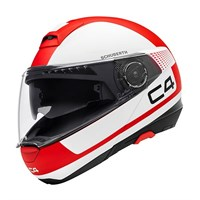 Schuberth C4 helmet in legacy red