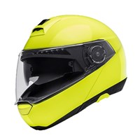 Schuberth C4 helmet in fluo yellow