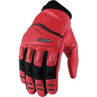 Icon Superduty 2 gloves in red