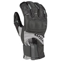 Klim Adventure GTX gloves in asphalt grey