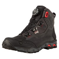 Klim Outlander GTX boot in asphalt / high risk red