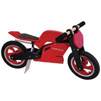 Kids Wooden Balance Superbike In Red/Black