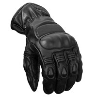 Police Motorcycle Gloves Winter - Black