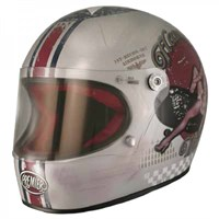 Premier Trophy Pin Up Old Style Silver Helmet