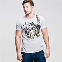 Red Torpedo Guy Martin Spannerspill Grey T-Shirt