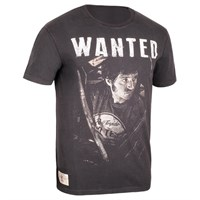 Red Torpedo Guy Martin Wanted T-shirt in black