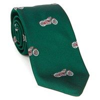 Motorcycle Silk Tie Green