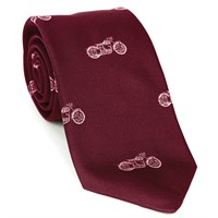 Motorcycle Silk Tie Burgundy