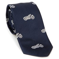 Motorcycle Silk Tie Navy