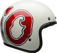 Bell Custom 500 DLX RSD WFO helmet in gloss white / red