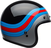 Bell Custom 500 DLX Pulse helmet in gloss black / blue / red