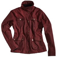 Rokker ladies Wax Cotton jacket in red