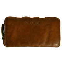 Rokker ladies big wallet in tan