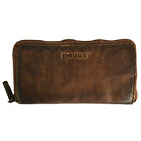 Rokker ladies big wallet in cognac