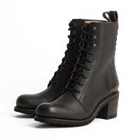 Rokker Speedway ladies boots in antique black