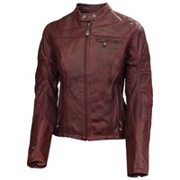Roland Sands ladies Maven jacket in oxblood