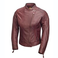 Roland Sands ladies Riot jacket in oxblood