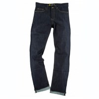 Resurgence Skinny Leg Cafe Racer raw jeans in blue
