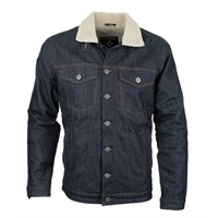 Resurgence Sherpa jacket in raw denim
